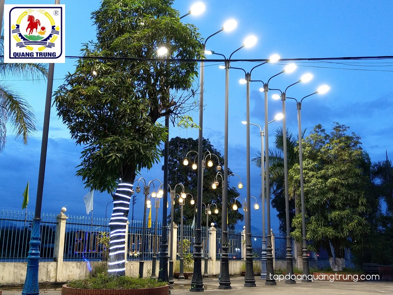 Tặng đèn LED chiếu sáng đường phố thắp sáng cung đường Ninh Bình thêm rực rỡ