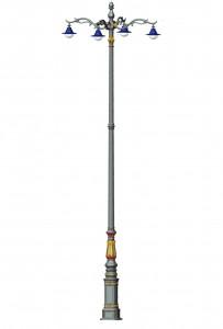 Cột đèn cao áp QTSL 04 - Đèn led chiếu sáng đường phố